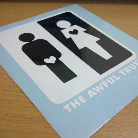 JDM Style Sticker awfull truth  awful truth 10x8cm 7rb