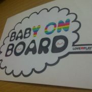 JDM Style Sticker baby on board awan