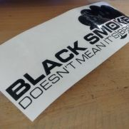 JDM Style Sticker black smoke