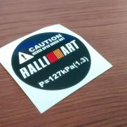 JDM Style Sticker radiator cap RALLIART