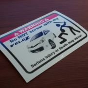 JDM Style Sticker dont mess VELOZ