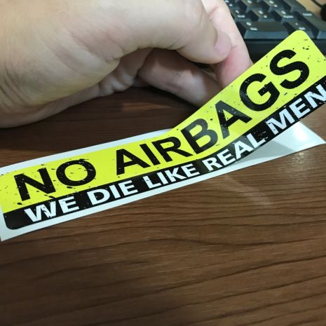 JDM Style Sticker no airbags