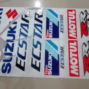 Biker Decal sticker set suzuki