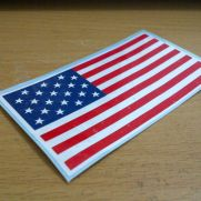 Biker Decal usa flag